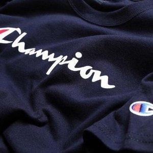 $15.3(原价$39.99)Champion Jersey经典logo短袖 显白海军蓝S 妹纸来撸