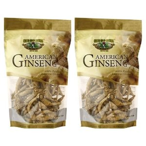 Ungraded American Ginseng Root Dragon Claw 8 oz Bag x 2