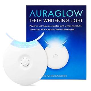 $5.99AuraGlow Teeth Whitening Accelerator Light, 5x More Powerful Blue LED Light, Whiten Teeth Faster