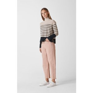 WhistlesStripe Funnel Neck Wool Knit
