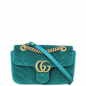 Gucci GG Marmont Velvet Mini 链条包