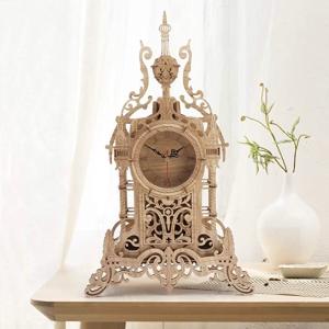 $31.49(原价$54.99)Amy & Benton 3D拼搭 木质复古台式时钟