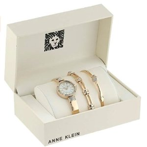 From $44.99Anne Klein Women's Swarovski Crystal Watch and Bangle Sets