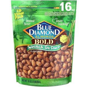 低盐款25oz$6.81Blue Diamond Almonds 芥末口味美国大杏仁特卖