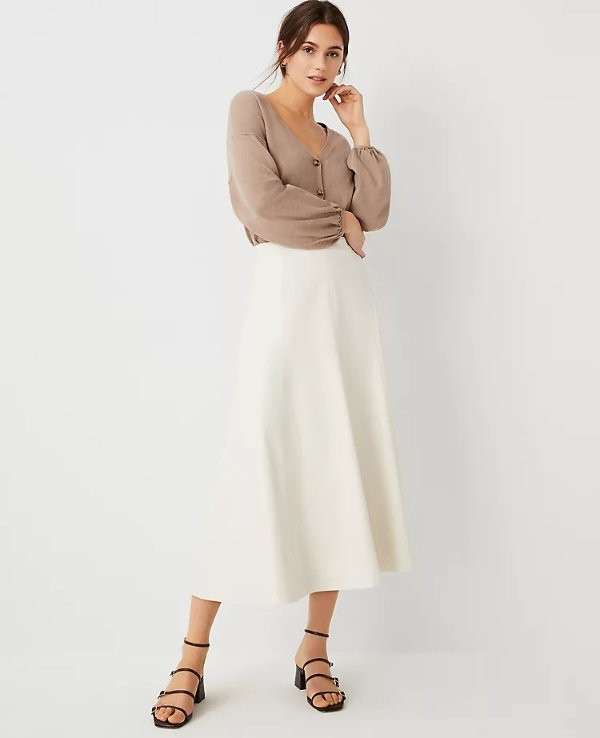 环保皮革半裙