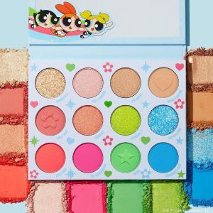 发夹$5 眼影$22上新:Colourpop x 飞天小女警 泡泡、花花、毛毛同款配色