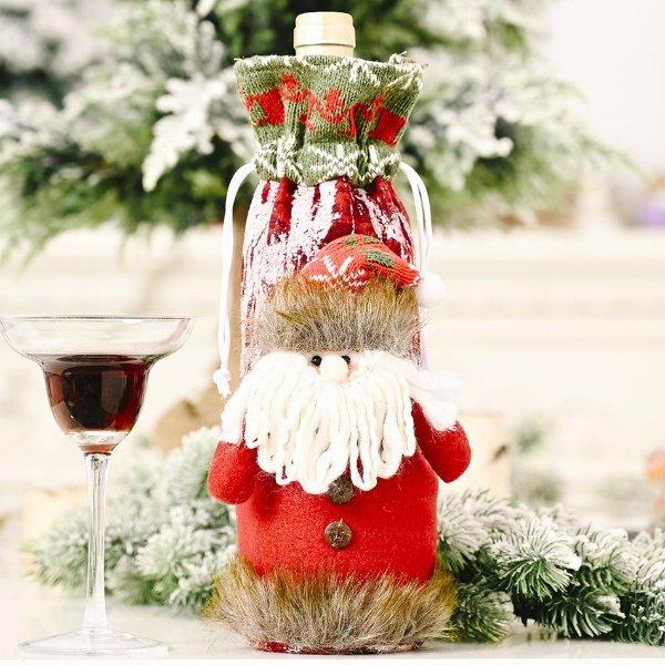 圣诞装饰酒瓶套