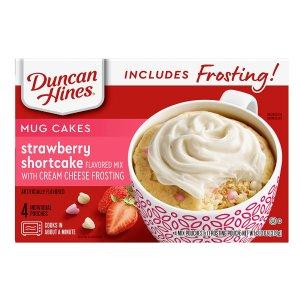 近期好价$1.75 加热1分钟即食Duncan Hines 草莓/柠檬味蛋糕粉 4小袋装 13.3oz