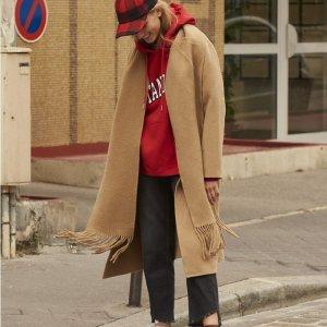 全场8折 收泰迪熊大衣最后一天:Sandro Paris 秋冬大衣上新热卖