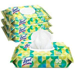 Lysol Handi-Pack Disinfecting Wipes, 320ct (4X80ct)