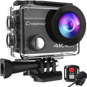 4.7折 €42.49(原价€89.99)限今天:Crosstour 4K运动相机热卖 附赠超多配件 GoPro平替