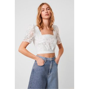 French ConnectionBAINTANA LACE CROP TOP