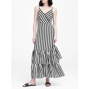 Banana RepublicStripe Tiered Maxi Dress
