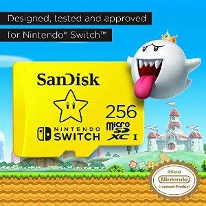 SanDiskSWITCH 256 储存卡 适用swtich