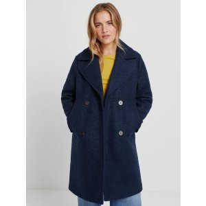 Frank And OakThe Skye Recycled Wool Coat in Navy
