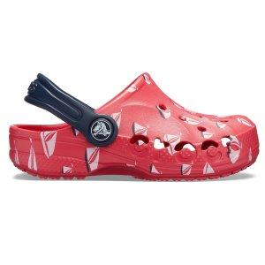 $11.99 (原价$39.99)折扣升级:Crocs 封面红色 小帆船大童洞洞鞋
