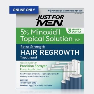 50% OffJust for Men Hair Regrowth Solution 3 Month Supply