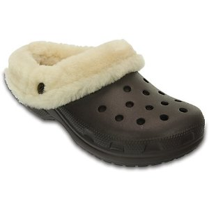 Crocs毛毛洞洞鞋