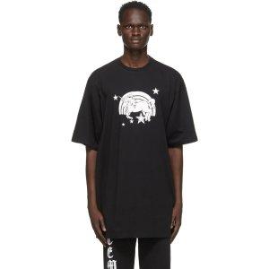 VetementsBlack Unicorn Magic T恤