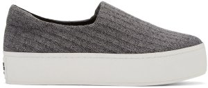 Opening Ceremony: Grey Platform Cici Slip-On Sneakers | SSENSE
