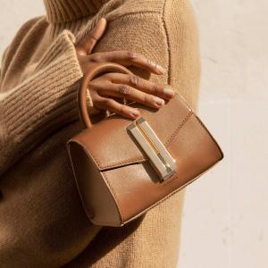 无门槛7折 €262收封面挎包DeMellier 伦敦设计师小众美包 复古的高级质感 优雅不撞包