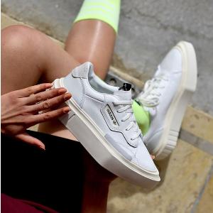 $160(美国定价$183)长腿必备上新:Adidas Hypersleek三叶草 厚底复古小白鞋