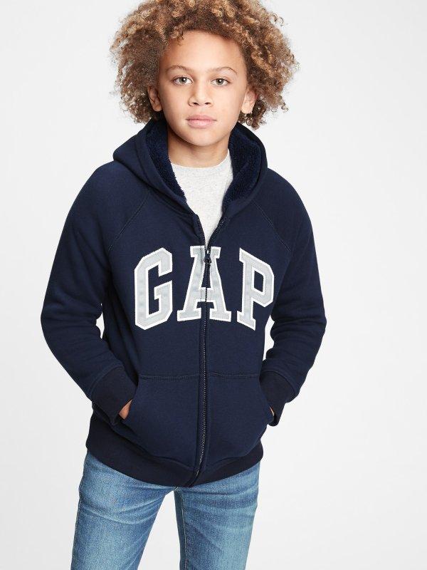男童Logo连帽卫衣