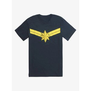 Two For $25Marvel Captain Marvel Logo Navy T-Shirt Hot Topic Exclusive