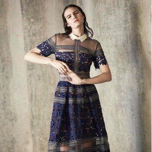 无门槛8折 £261收蕾丝连衣长裙限今天:Self-portrait 超仙小裙裙热卖