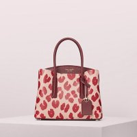 Kate Spade 红色豹纹手提包