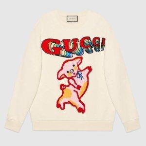 猪光宝气迎猪年Gucci 古驰猪猪家族系列美衣发售