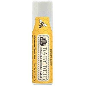 Amazon.com: Burt's Bees Baby Kissable Cheeks Balm, 100% Natural Baby Moisturizer - 0.25 Ounce Balm: Grocery & Gourmet Food