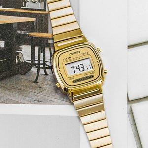$43.4(原价$47.99)CASIO LA670WGA-9 经典复古不锈钢女士手表