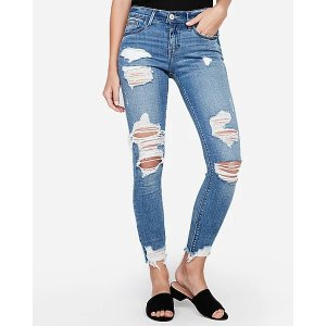 第二件$29.9破洞牛仔裤