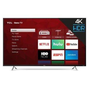$369.99(原价$449.99)TCL 55吋 4K HDR 120HZ CMI Roku 智能 LED 电视
