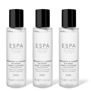 ESPA全部符合英国卫生部标准酒精免洗手液75mlX3(佛手柑茉莉味)