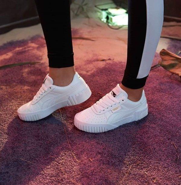 Cali 厚底小白鞋
