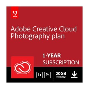 $95Adobe Creative Cloud Photography plan with 20GB storage