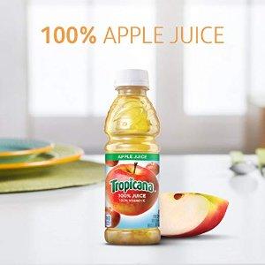 $9.09 包邮Tropicana 纯果乐100%苹果汁 10 oz 24 瓶