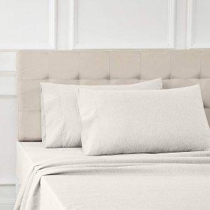 白菜价:AmazonBasics 床单枕套4件套 米灰色 Cal King