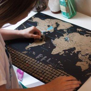 $19.18闪购:Earthabitats 去过哪里刮哪里地图海报