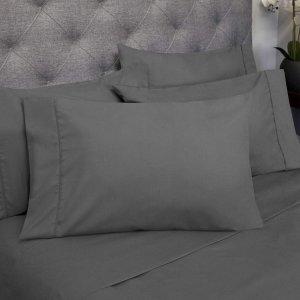$14.39 起闪购:1500支超细纤维磨毛床品6件套,多色多尺寸可选