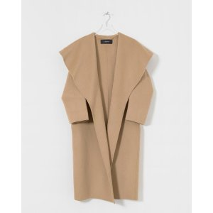 Le MerceauCamel Wide Collar Coat