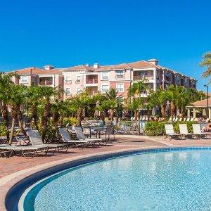 $229/晚 靠近环球影城+海洋世界奥兰多湖景公寓 3卧室 可入住8人