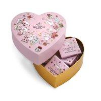 Godiva 情人节迷你心形礼品盒,6件。