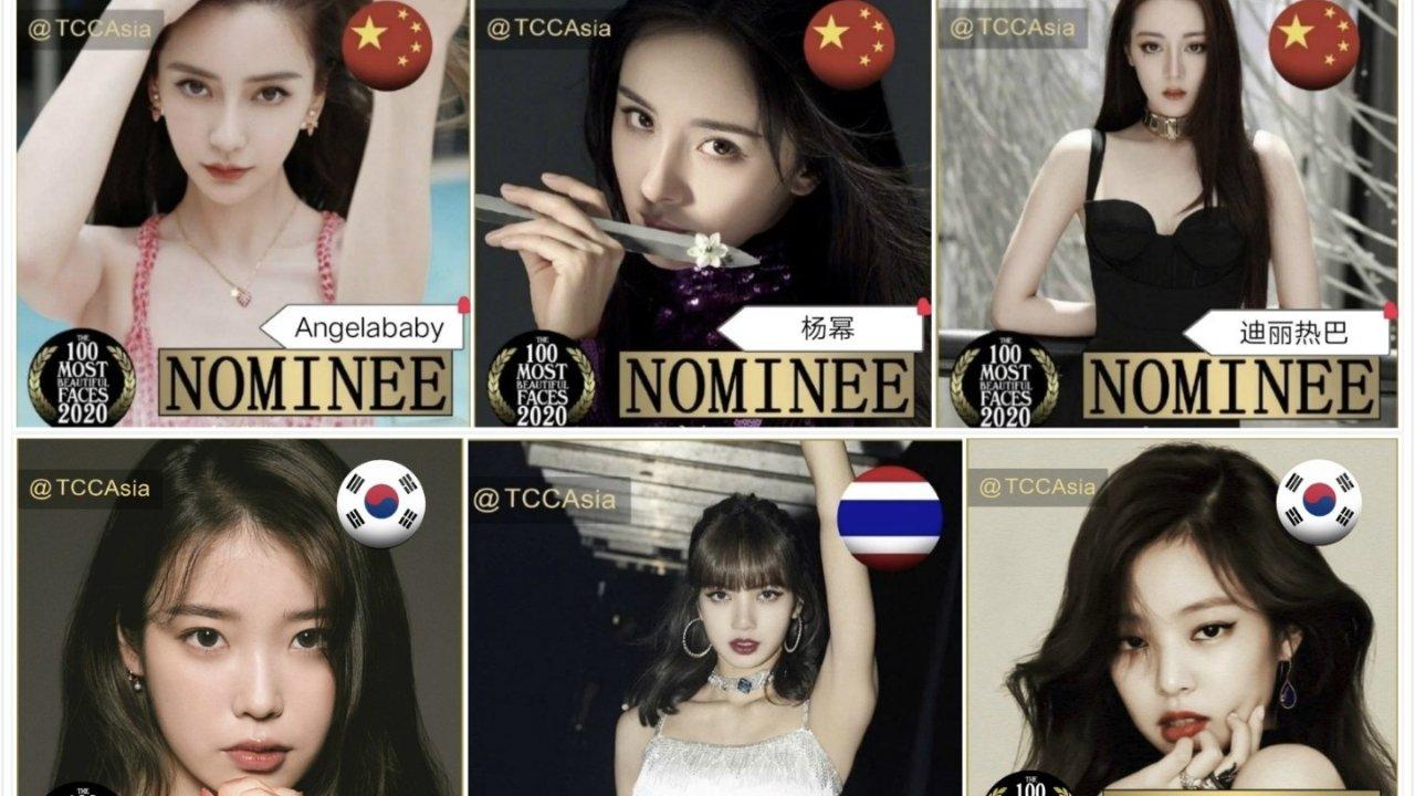 2020亚太地区100张最美面孔女星入围名单!Angelababy、杨幂、热巴、Lisa...你Vote谁?