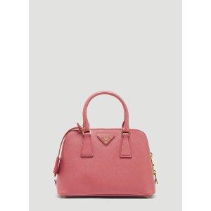 PradaRound Saffiano Hand Bag in Pink |LN-CC