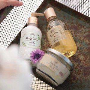 低至6.4折Sabon 全场身体护理产品热卖 收沐浴油、室内扩香