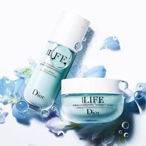 7.2折 现价$73(官网$110)Dior迪奥 LIFE系列补水保湿3件套 含面霜正装+超美化妆包