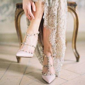 粉色铆钉鞋断码热抢  定价优势NET-A-PORTER UK 英国站精选 VALENTINO 铆钉鞋专场